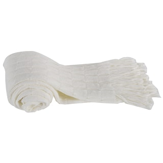 White Acrylic Cashmere Throw