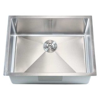 26-inch Stainless Steel Single Bowl Undermount 15mm Radius Kitchen Sink 16 Gauge Combo