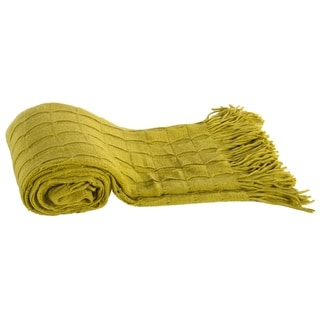Chartreuse Acrylic Cashmere Throw
