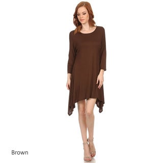 Women's Solid Rayon/Spandex Tunic