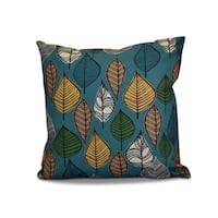 20 x 20-inch Autumn Leaves Floral Print Outdoor Pillow