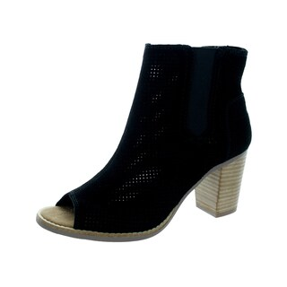 Toms Women's Majorca Peep Toe Black Casual Shoe