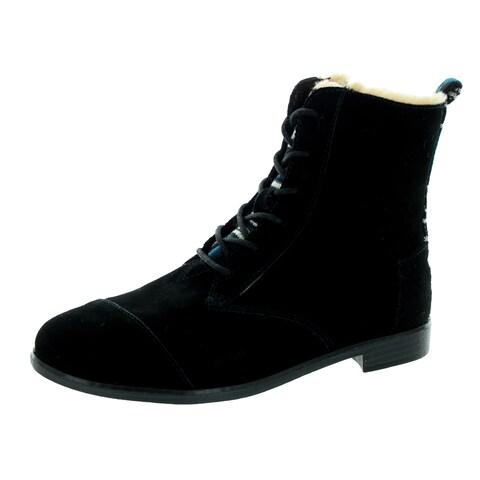Toms Women's Alpa Black Suede Boot