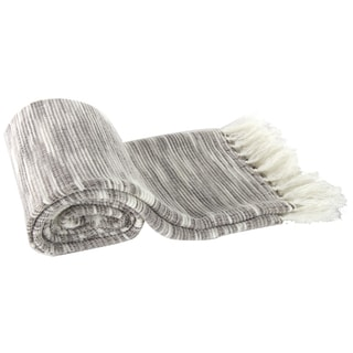 Grey Heathered Acrylic Throw