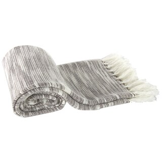 Grey Heathered Acrylic Throw