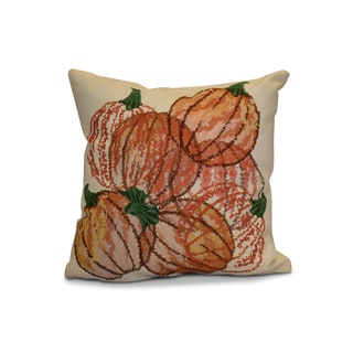 20 x 20-inch Pumpkin Pile Geometric Print Outdoor Pillow