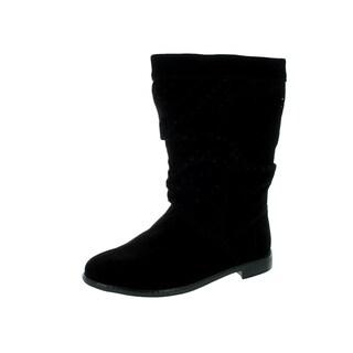 Toms Women's Serra Black Suede Boot