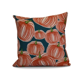 20 x 20-inch Pumpkins-A-Plenty Geometric Print Outdoor Pillow