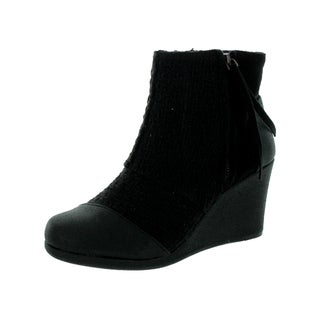 Toms Women's Desert Wedge High Black Boot