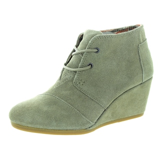 Toms Women's Desert Wedge Taupe Casual Shoe