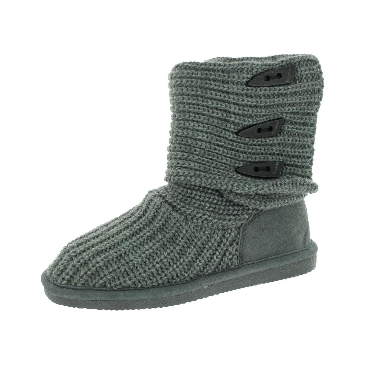 Bearpaw Women's Knit Tall Grey Boot (7)