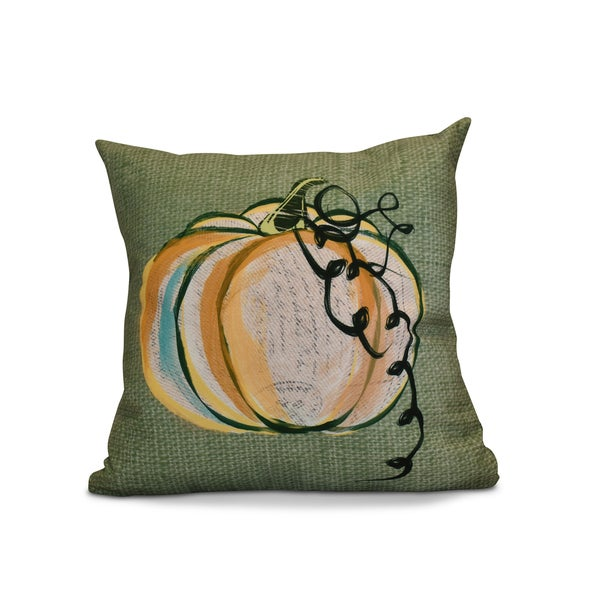 20 x 20-inch Pumpkin Fest Geometric Print Outdoor Pillow