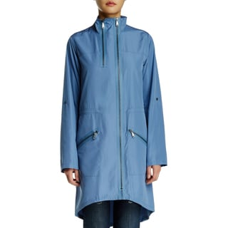Elie Tahari Molly Blue Trench Coat