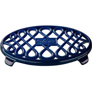 La Cuisine Blue Oval Cast Iron 10-inch x 7-inch Trivet https://ak1.ostkcdn.com/images/products/12344794/P19173970.jpg?impolicy=medium