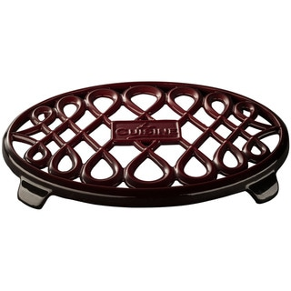 La Cuisine Ruby Oval Cast Iron 10-inch x 7-inch Trivet