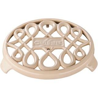 La Cuisine Cream Cast Iron 7-inch Round Trivet