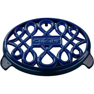 La Cuisine 7-inch Round Cast Iron Blue Trivet https://ak1.ostkcdn.com/images/products/12344804/P19173977.jpg?impolicy=medium
