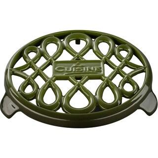 La Cuisine Green Cast Iron 7-inch Round Trivet