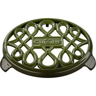 La Cuisine Green Cast Iron 7-inch Round Trivet https://ak1.ostkcdn.com/images/products/12344806/P19173978.jpg?impolicy=medium