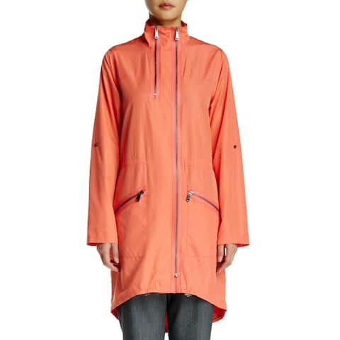Elie Tahari Pink Molly Rain Coat