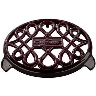 La Cuisine Ruby Round Cast Iron 7-inch Trivet