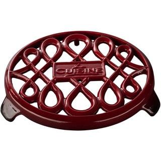 La Cuisine Red Cast-iron 7-inch Round Trivet