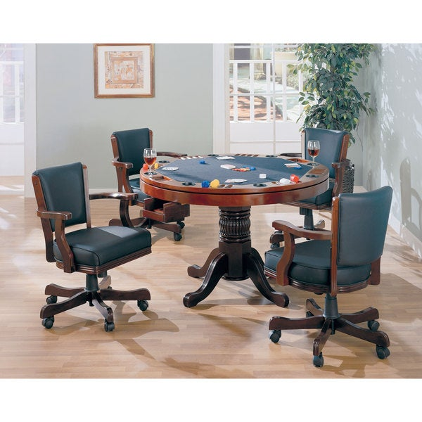Charmant Coaster Company 3 In 1 Oak Game Table   Brown