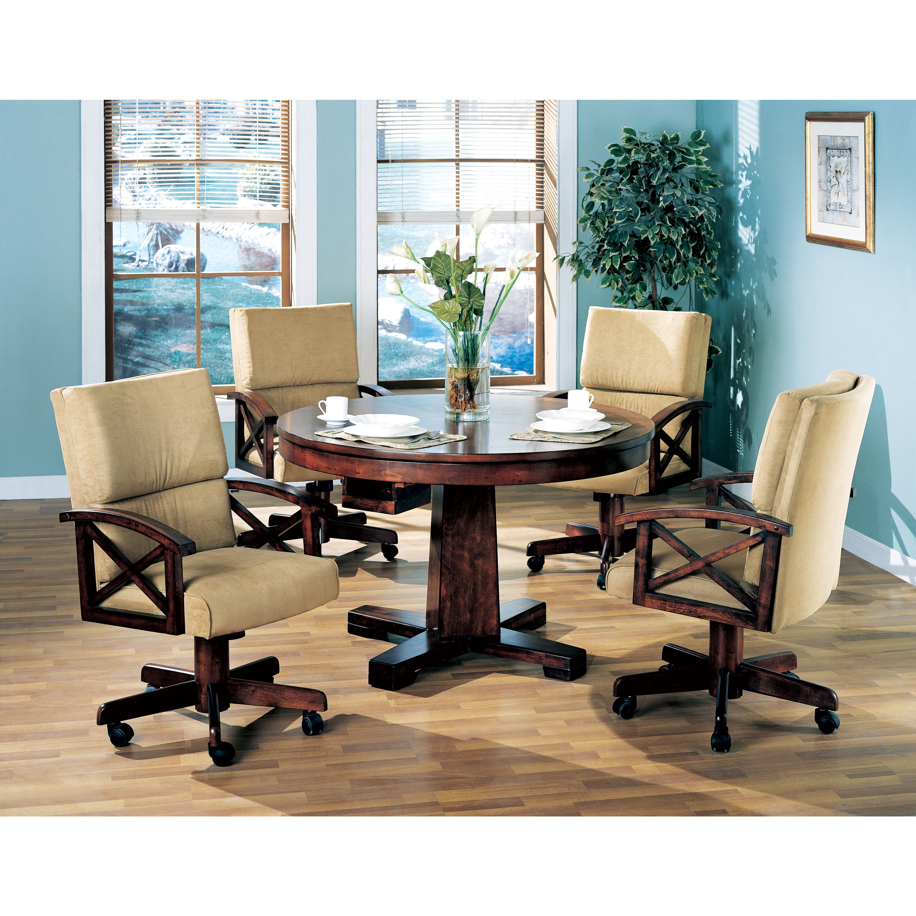 Coaster Furniture Oak Convertible Dining and Game Table (...