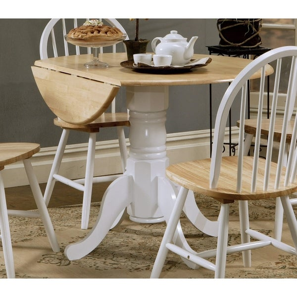 Shop Coaster Company White Natural Dining Table Free Shipping