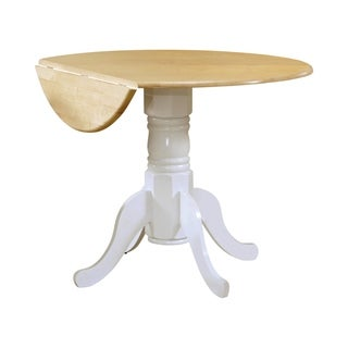 Coaster Company White Natural Drop Leaf Table with Empire Base