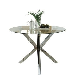 Coaster Chrome Glass Top Dining Table