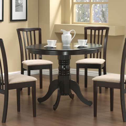 Coaster Company Round Cappuccino Dining Table - Brown