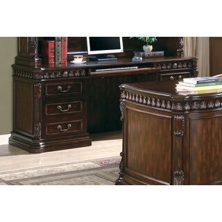 Coaster Company Walnut Credenza Executive Desk