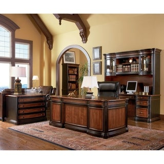 Coaster Company Cherry and Black Credenza Desk