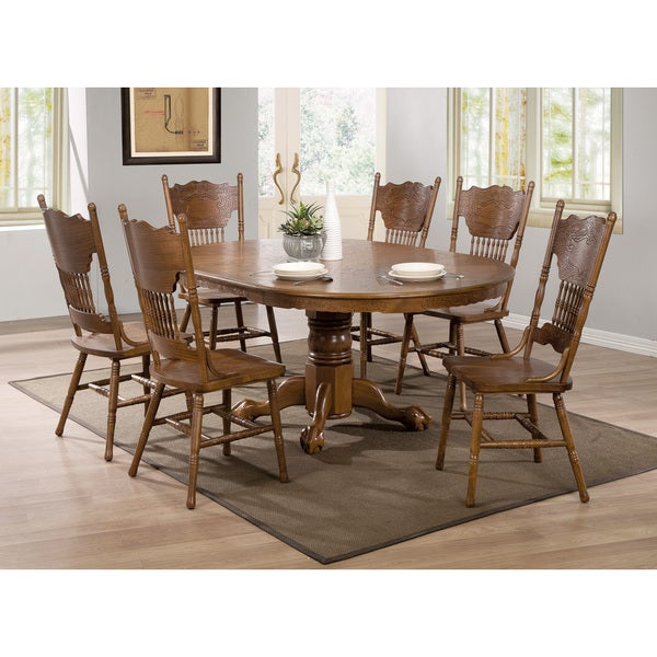 Coaster Company Oak 24 Inch Extension Leaf Table