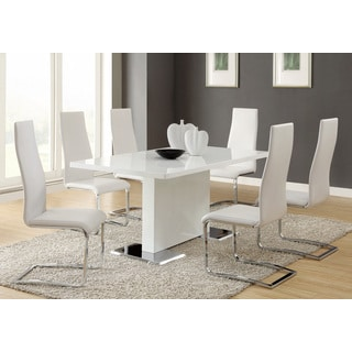 Coaster Company White and Chrome Dining Table