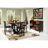 Coaster Company Black/ Brown Counter-height Round Table