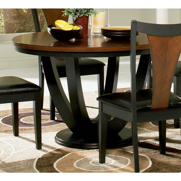 Coaster company boyer black and cherry dining table free for Dining room tables home goods