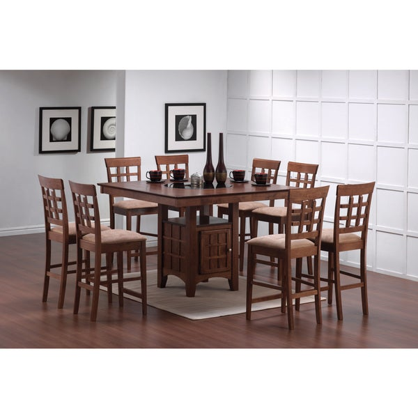 Enjoyable Shop Coaster Company Square Storage Chestnut Dining Table Home Interior And Landscaping Ologienasavecom