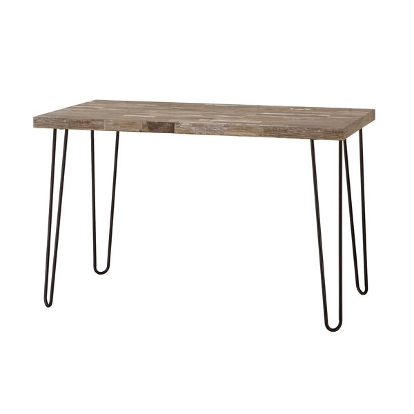 Black Metal Hairpin Legs Reclaimed Wood Desk 19174038