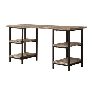 Coaster Company Salvaged Cabin Wood and Black Metal Finish Desk