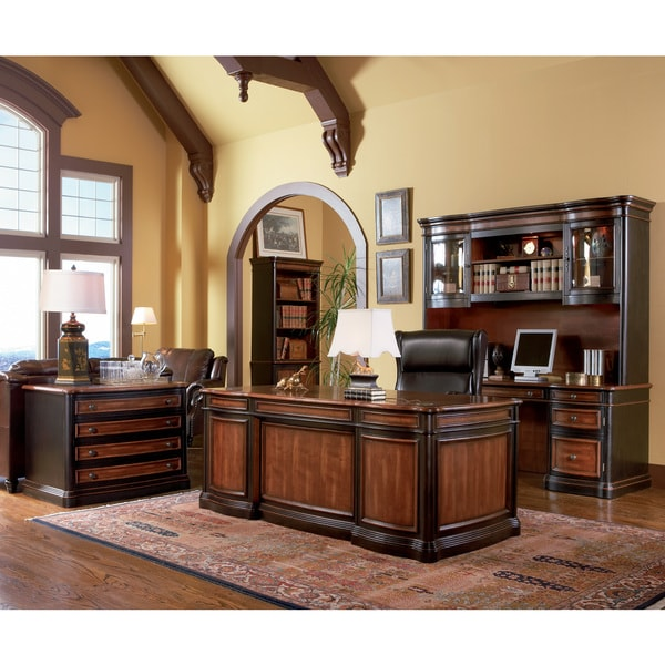 Coaster Company Black And Cherry File Cabinet Office Desk