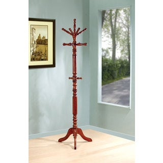 Shop Twist Design Cherry Wood Coat Rack Free Shipping