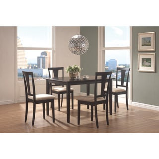Coaster Company Geary 5 Piece Dining Set with 4 Dining Chairs Rectangular Table (Beige)