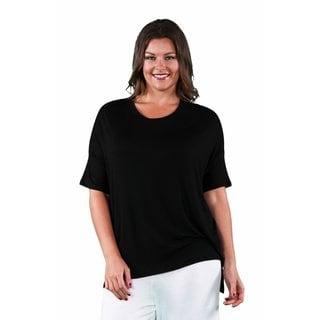 24/7 Comfort Apparel Women's Plus Size Dolman Sleeve Tee
