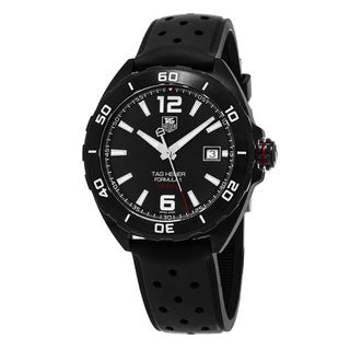 Tag Heuer Men's WAZ2115.FT8023 'Formula 1' Black Dial Black Rubber Strap Swiss Automatic Watch