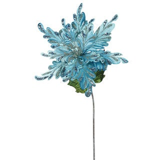 Sea Blue Poinsettia with 15-inch Flower (Pack of 3)