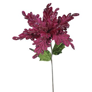 Vickerman Mauve 15-inch Faux Poinsettia With 15-inch Flower (Pack of 3)