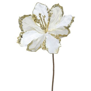 Vickerman Cream Plastic 20-inch Amaryllis with 9-inch Flower (Pack of 3)