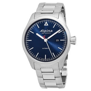 Alpina Men's AL-525N4S6B 'Alpiner' Blue Dial Stainless Steel Swiss Automatic Watch